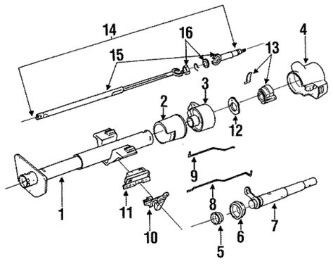 Steering Column Assembly For Chevrolet Caprice Classic