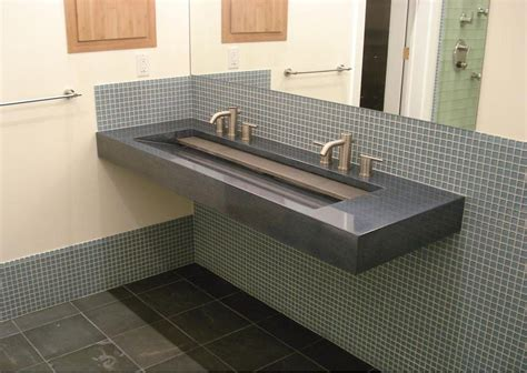 Appealing Trough Sink To Complete Small Double