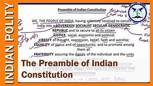 The Preamble   Constitution Of India