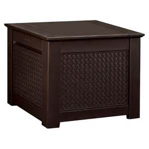 rubbermaid 174 patio chic storage cube deck box target