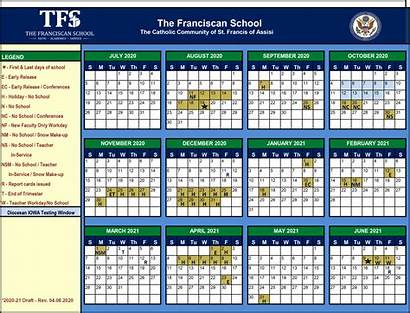 Calendar Academic Franciscan