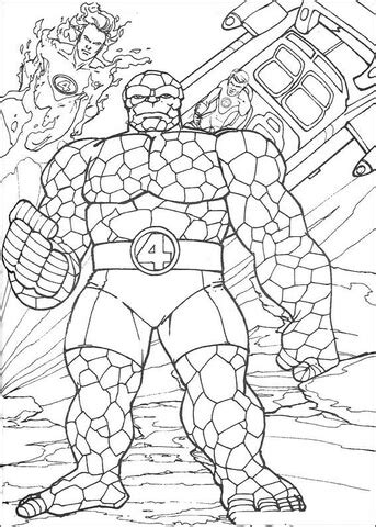 Coloring Things by The Thing Coloring Page Free Printable Coloring Pages