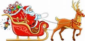 Christmas Santa's Sleigh Clipart