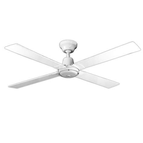 arlec 120cm 4 blade white ceiling fan bunnings warehouse