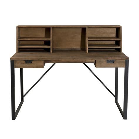 style bureau bureau 2 tiroirs bois et m 233 tal avec 233 tag 232 res dpi import