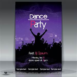 dance party flyer cover template vector 05 vector cover With dance flyers templates free