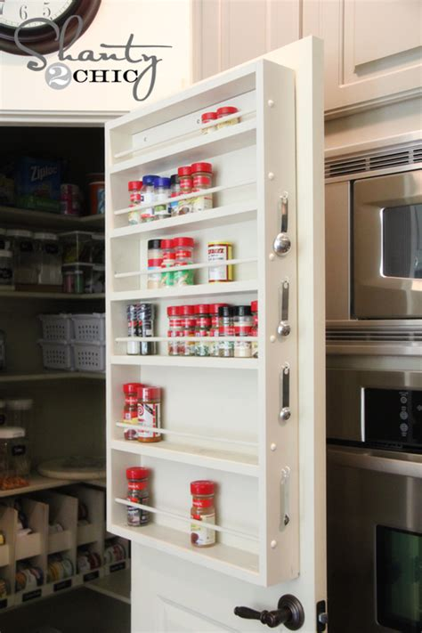 spice rack inside pantry door pantry ideas diy door spice rack shanty 2 chic