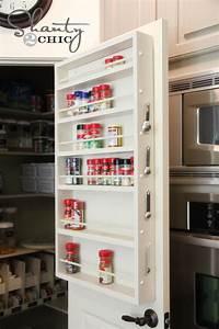 Pantry Ideas - DIY Door Spice Rack - Shanty 2 Chic