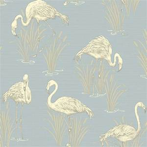 ARTHOUSE VINTAGE LAGOON FLAMINGO WALLPAPER