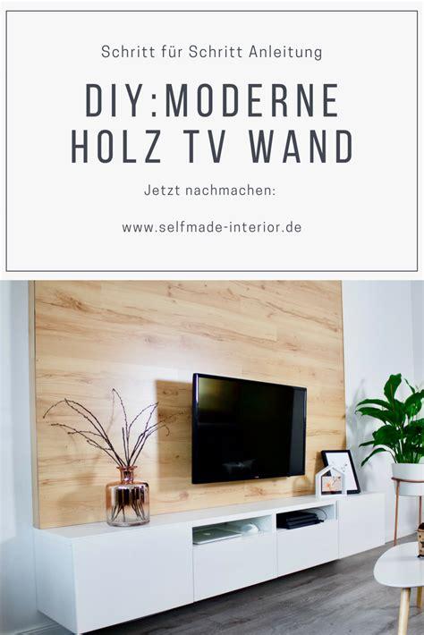 Haus Selber Bauen Schritt Für Schritt by Schritt F 252 R Schritt Anleitung Diy Holz Tv Wand Tv Wall