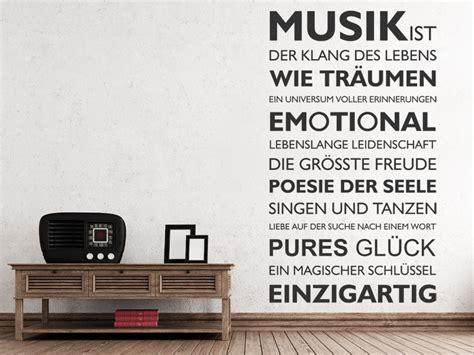 wandtattoo musik ist der klang des lebens wandtattoosde