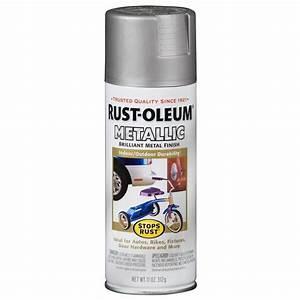 Shop Rust-Oleum Stops Rust Silver Metallic Rust Resistant
