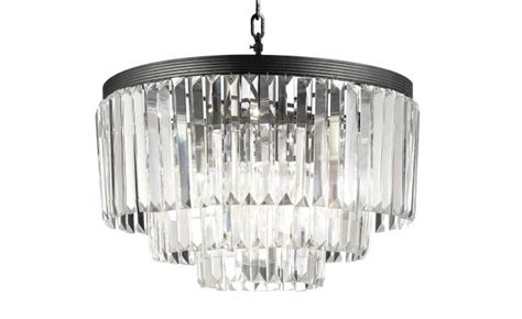 Timothy Oulton Odeon Chandelier With Hanging Glass