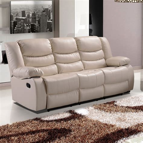 Stylish Loveseat by Belfast Ivory Recliner Sofa Collection In Bonded Leather