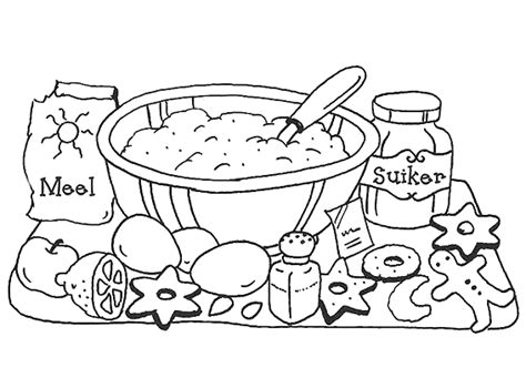 kitchen  cooking coloring pages