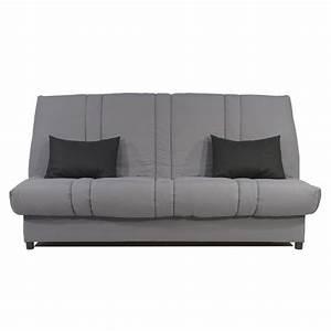 Canap Clic Clac Noir Et Gris Couchage D39appoint Design