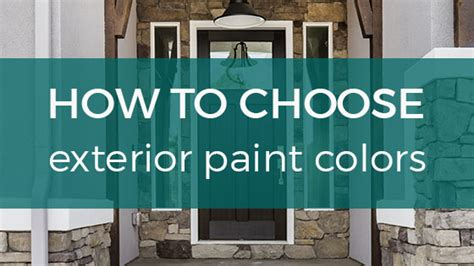 how to choose exterior paint colors for your home
