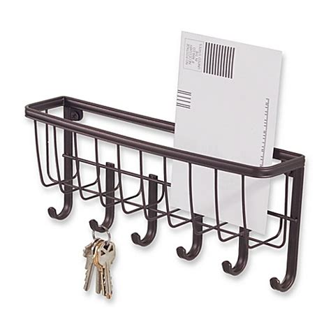 key rack for wall interdesign 174 wall mount mail key rack in bronze bed
