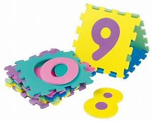 acheter tapis puzzle chiffres dalles en mousse bebe pas cher With tapis de sol mousse bébé