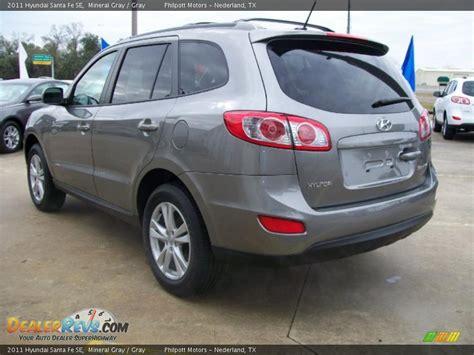 2011 Hyundai Santa Fe Se Mineral Gray / Gray Photo #5