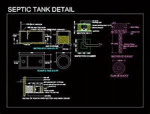 Septic Tank Detail In Autocad