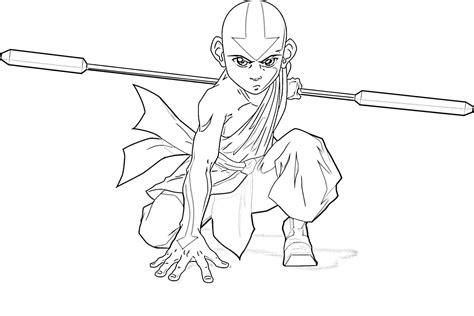 craftoholic avatar   airbender coloring pages