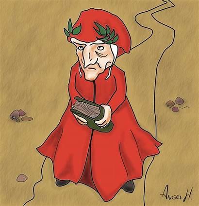 Dante Alighieri Caricatura Purgatorio Clipart Allighieri Struttura