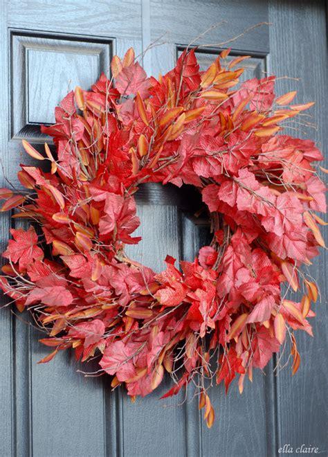 diy front door wreaths 13 diy fall wreaths for your front door dailyscene com