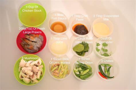 soup ingredients creamy thai tom yum soup with jumbo prawns recipe