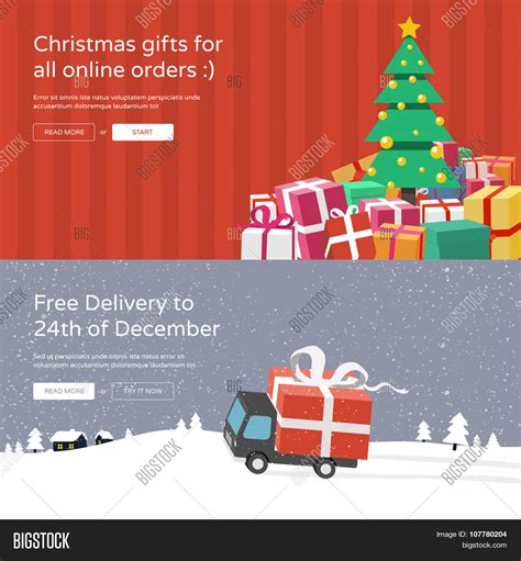 christmas website banners christmas tree with gifts