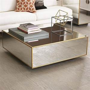 floating mirrored and gold coffee table beautiful homes With gold and mirror coffee table