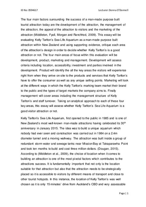 Visitor Attractions And Activities Essay