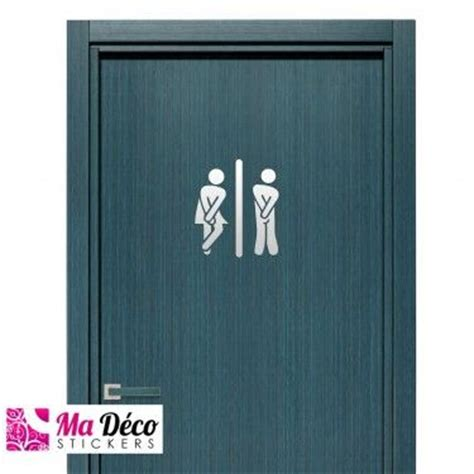 stickers muraux toilettes humour projets idee wc humour drole decoration stickers toilettes porte divers design