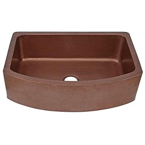 Home Depot Copper Farmhouse Sink by Sinkology Ernst Farmhouse Apron Front Handmade Copper 33