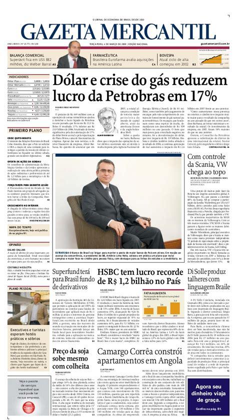GAZETA MERCANTIL - Brasil - 04.03.2008