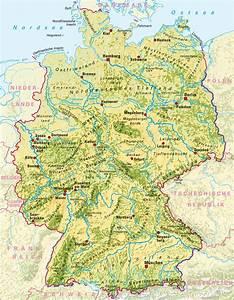 Deutschland Physische Karte : deutschland landschaften karte my blog ~ Watch28wear.com Haus und Dekorationen