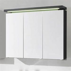 Badezimmer Spiegelschränke Mit Beleuchtung : bad spiegelschrank ectria in anthrazit ~ Frokenaadalensverden.com Haus und Dekorationen