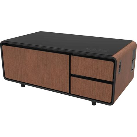 If not, then click on through to learn all about the stylish coffee table with unique and useful features, including bluetooth speakers, a large refrigerator drawer, multiple electrical outlets, and led lighting. Sobro Side Table Indiegogo | Decoration Jacques Garcia