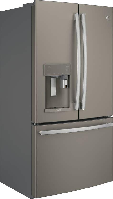 pyepmkes ge profile   cu ft counter depth french door refrigerator slate