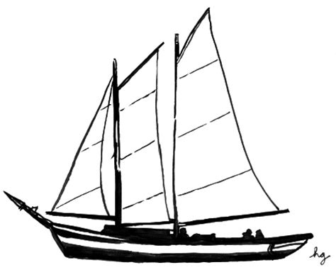 Boat Line Art by Sailboat Line Drawings Clipart Best