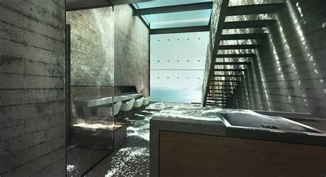 An Innovative House Carved Out Of A Cliff by Glass And Concrete Interior Design Ideas