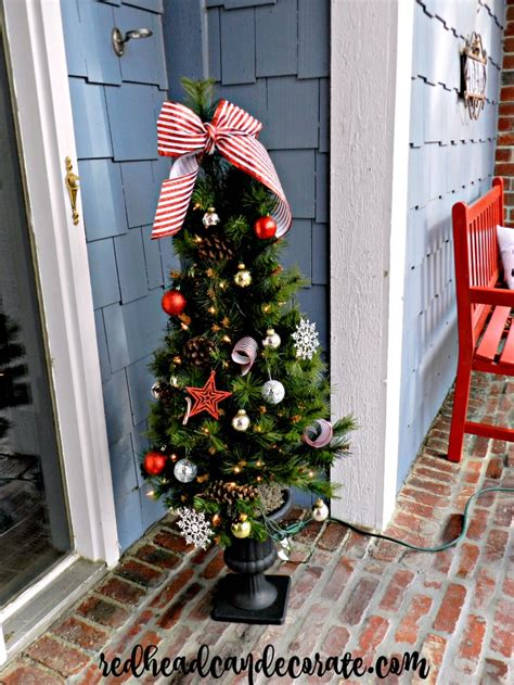 front porch christmas trees christmas front porch redhead can decorate