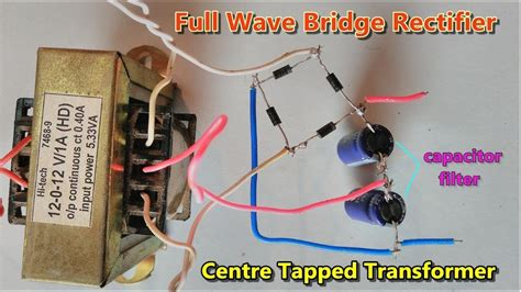 capacitor filter full wave bridge rectifier