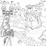 Coloring Pages Castle Princess Dragon Magic Printable Fantasy Castles Print Colouring Crayola Harry Puff Paint Princes Flower Cartoon Potter Diamond sketch template