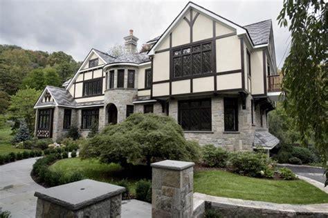 french tudor inspired exterior traditional exterior