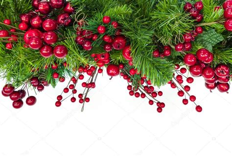 Pictures Garland Border Christmas Garland Border Red