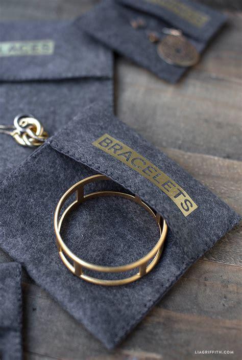 diy felt jewelry pouches lia griffith