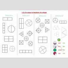 Shading Fractions Of A Shape By Funkyblues  Teaching Resources Tes