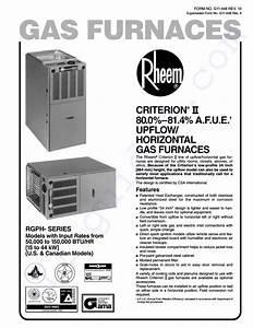 Rheem 15narjr Furnace Instruction Manual Pdf View  Download