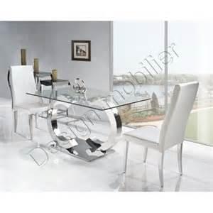 table en verre salle a manger chaios